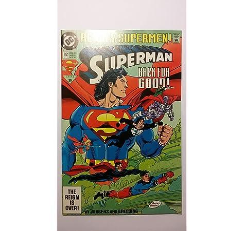 Amazon Com Reign Of The Supermen Superman Back For Good The Reign Is Over 82 Oct 93 1993 30 Jurgens Breeding Books