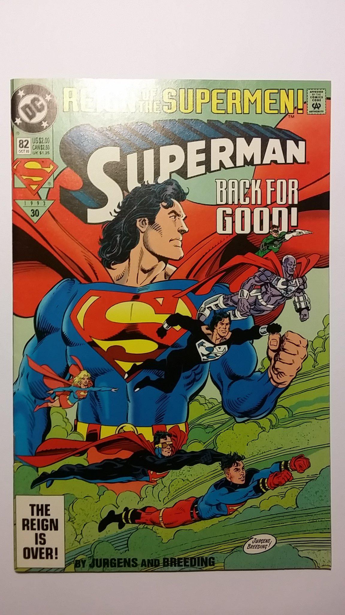 Superman 82 Back For Good Reign Of The Supermen Dc Comics Dan Jurgens Amazon Com Books