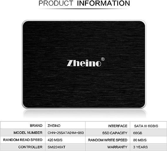 Zheino SSD A1 60 - Disco Duro sólido de 60 GB (2.5