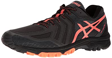ASICS Men's Gel-FujiAttack 5 Trail Runner, Dark Grey/Hot Orange/Black