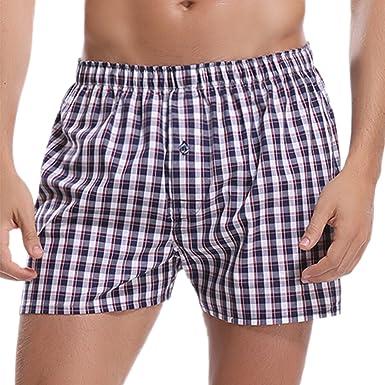 859f4ca22a Hawiton Pantalones de Pijama Hombre Algodón Rayas Shorts Ropa de Dormir  Cortos de Playa  Amazon.es  Ropa y accesorios
