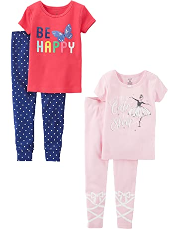 47fe75a10 Carter's Baby Girls' Toddler 2-Pack Two-Piece Cotton Pajamas