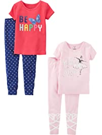 Carter s Baby Girls  Toddler 2-Pack 2 Piece Cotton Pajamas 285b4e773
