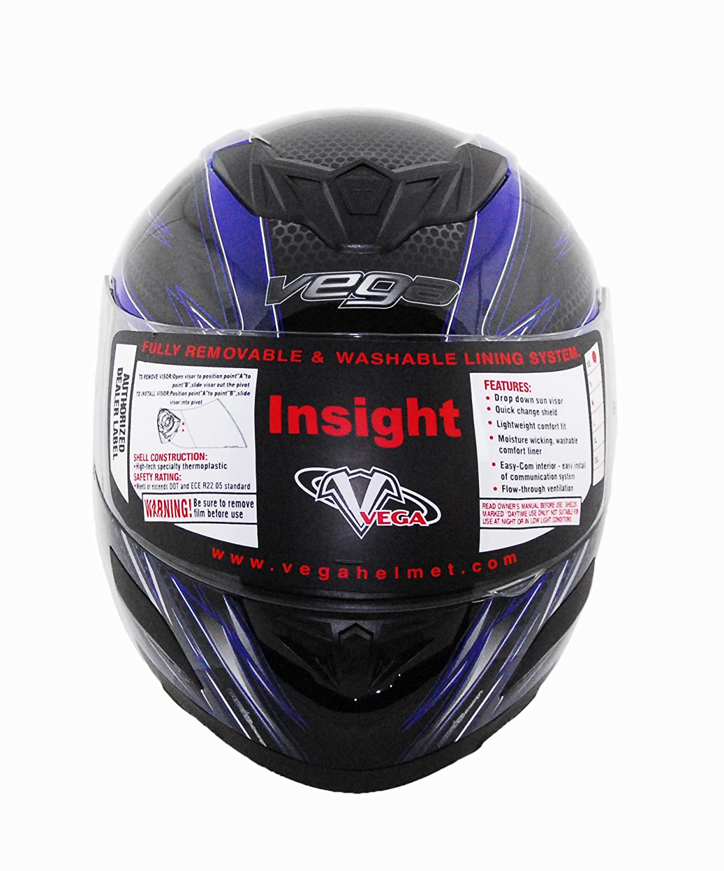 Amazon.com: Vega Insight Full Face Helmet with Razor Graphic (Pink, X-Large): Automotive