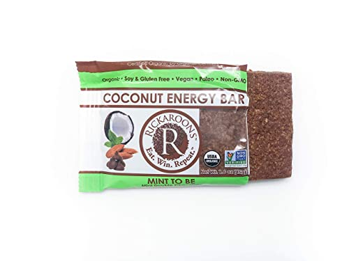 Rickaroons Coconut Energy Bars Mint to Be Vegan, Gluten Free, Organic, Paleo 1.6 Ounce 12 Count