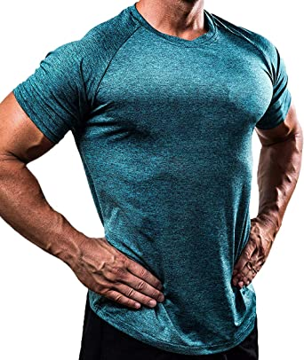 Men/'s Slim Fit O Neck Short Sleeve Muscle Tee Solid Color T-shirt Casual Tops