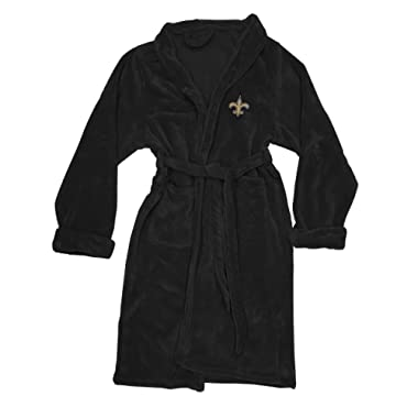 The Northwest Company Officially Licensed NFL Atlanta Falcons Men's Silk Touch Lounge Robe, Large/X-Large