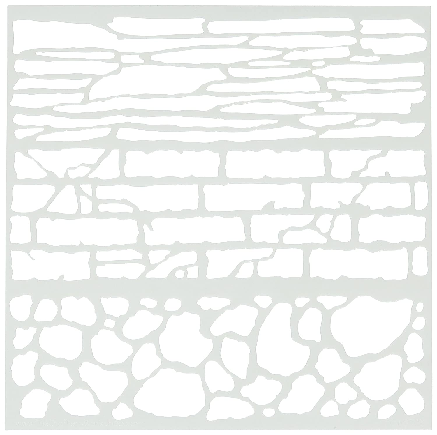 Crafters Workshop Rock Wall Crafter's Workshop Template, 6 by 6 6 by 6 TCW6X6-573