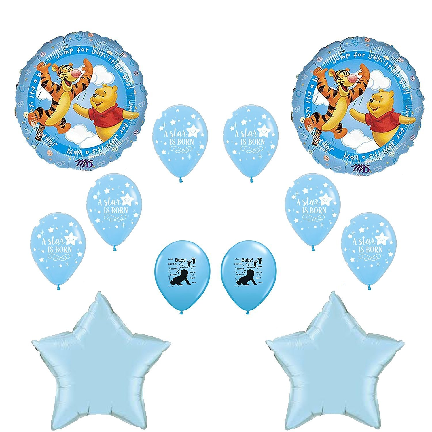 Winnie the Pooh Its A Boy Baby Shower Balloons Decoration Kit   B01ASC8KHE
