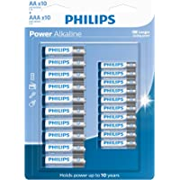Pilha Philips alcalina do tipo AA e AAA