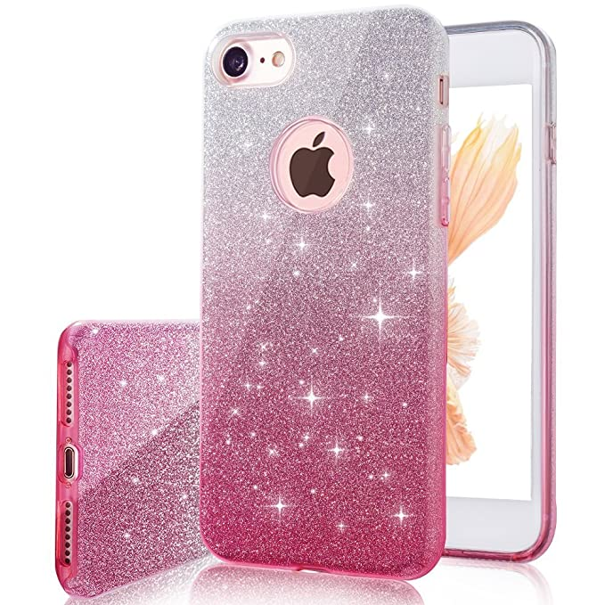 apple 4 7 quot iphone 8 iphone 7 case bling bling glitter sparkle premium flash pretty