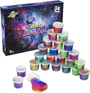 Joyjoz Galaxy Slime Water Slime 24 PCS Favor de Fiesta Kit de Slime Suave No Pegajoso Juguetes para Aliviar el Estrés para Niños, Adultos: Amazon.es: Juguetes y juegos