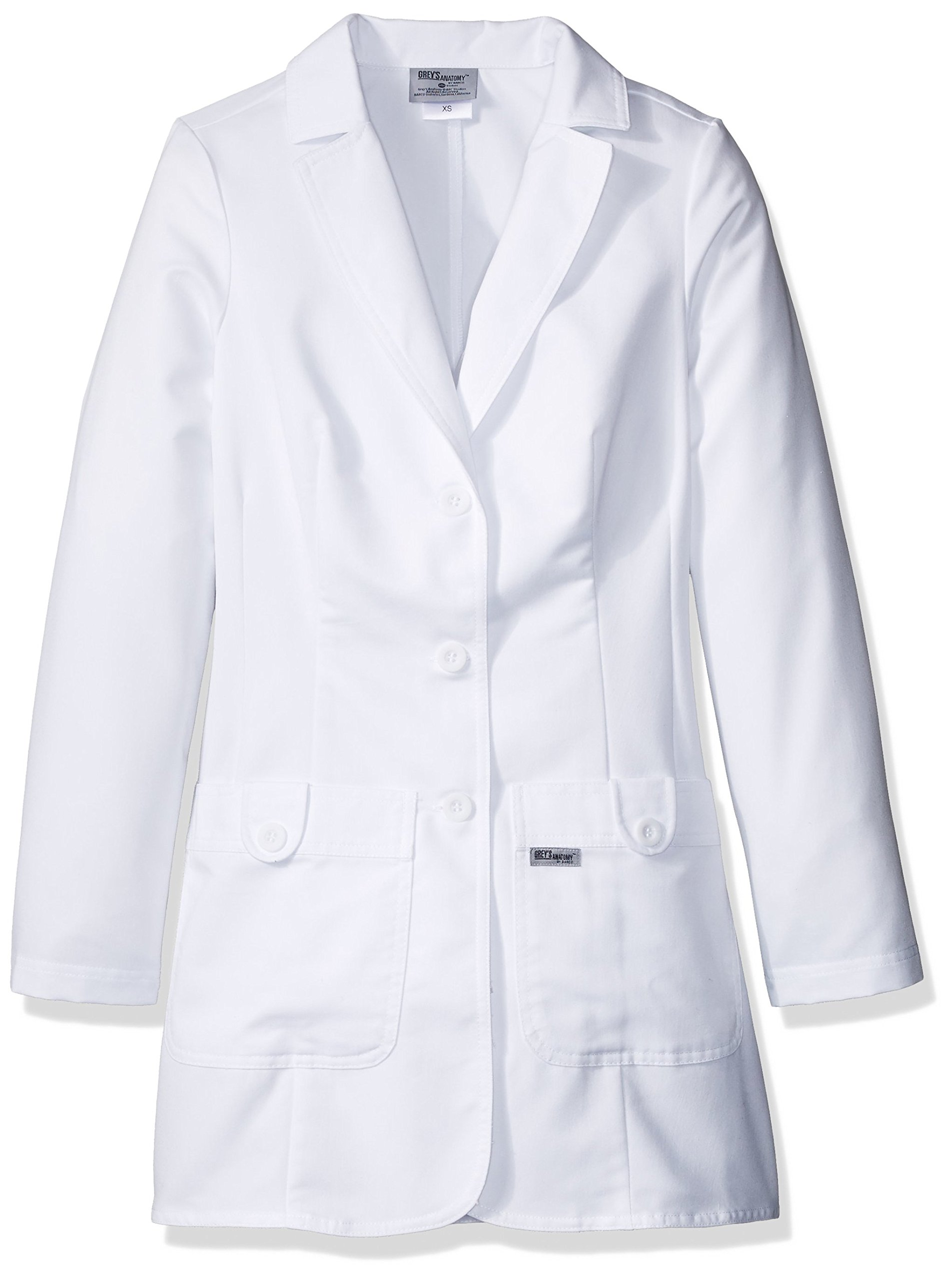 Grey's Anatomy Signature Women's 32 Inch Two Pocket Fitted Lab Coat, White, 5X-Large