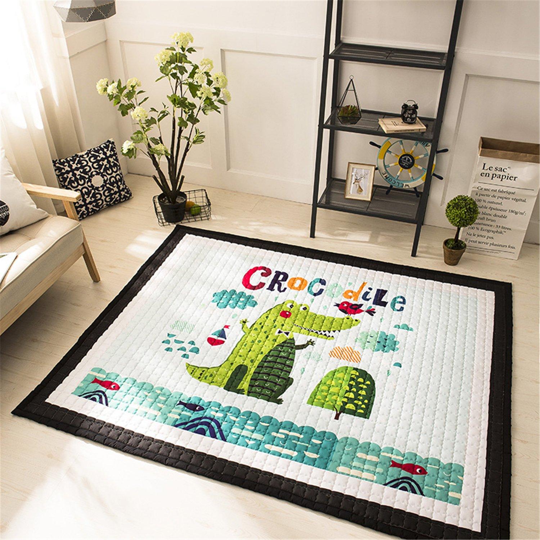 Super Large Baby Kids Cotton Rugs Nursery Room Animal Pattern Carpets Play Mats 1.95 Bear 1.45 Meter