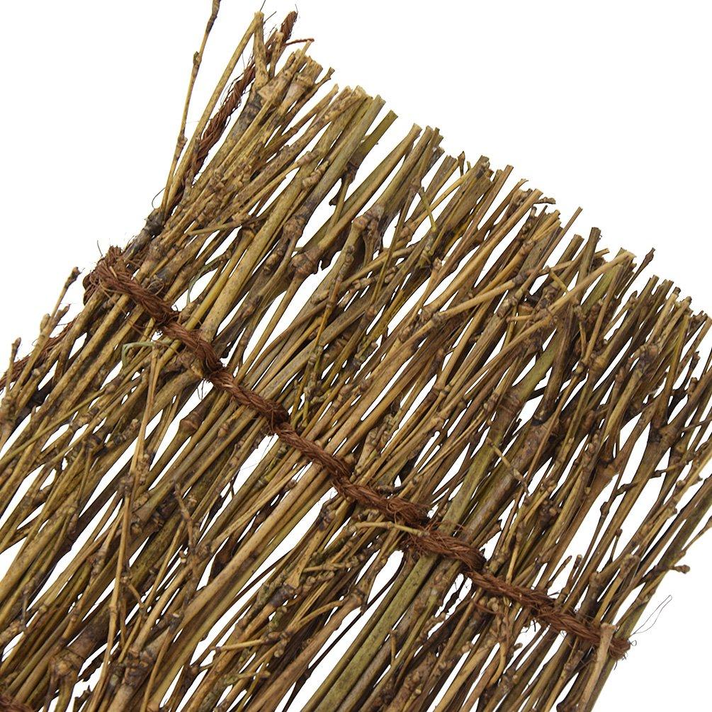 Kesheng 1Pcs Bamboo Sushi Serving Tray Decorative Plates 11cm x 6cm