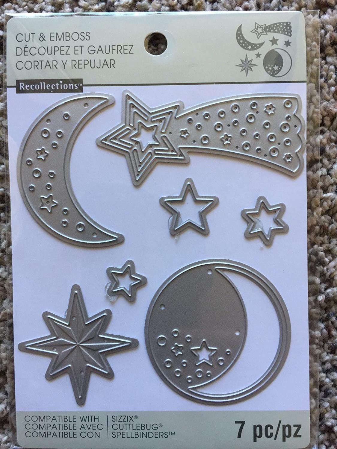 7 pieces Recollections Cut And Emboss 542700 Constellations