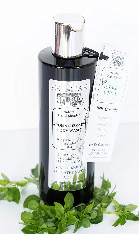 TOTALLY MINTAL Body Wash, using an Aloe Vera base. 100% Organic Essential Oils. 250ml, 500ml or Biodegradable Refill.