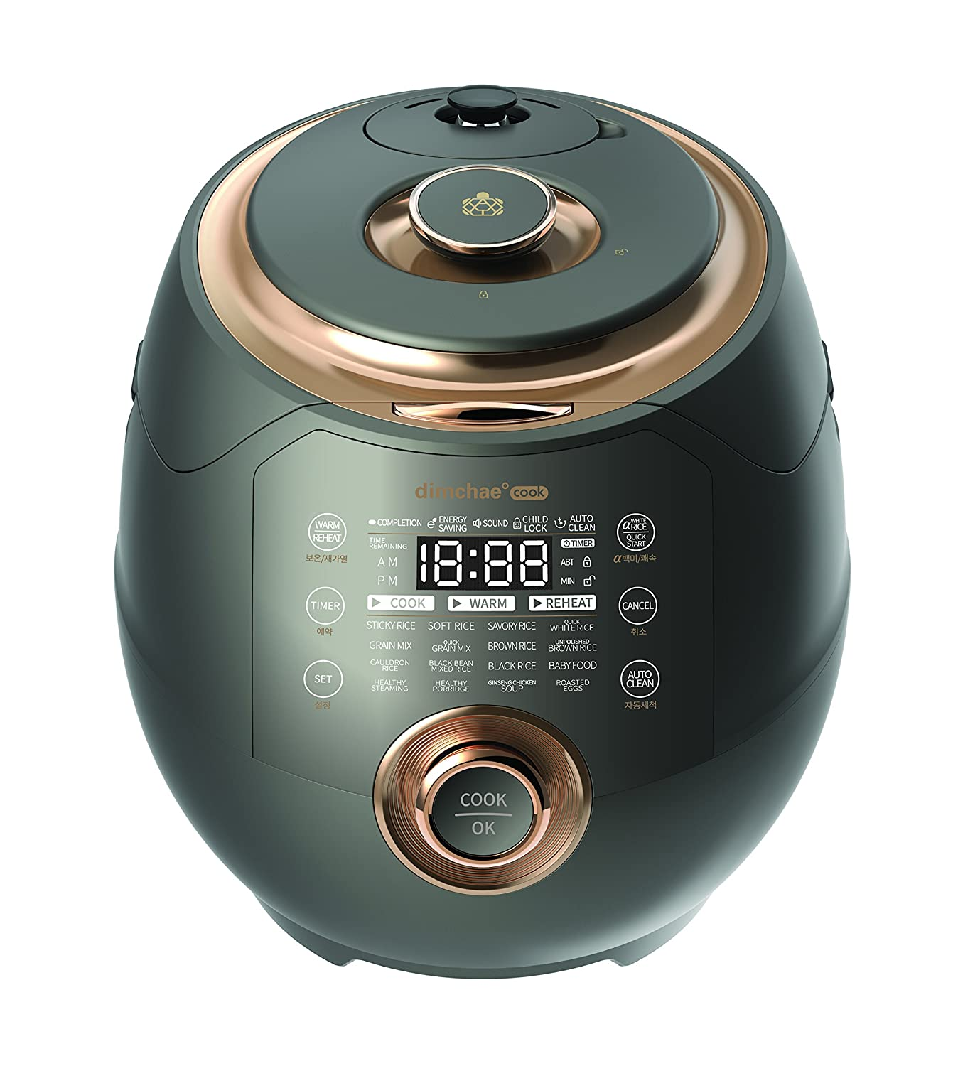 Dimchae Cook Induction Heating Pressure Rice Cooker 10 Cup Bronze