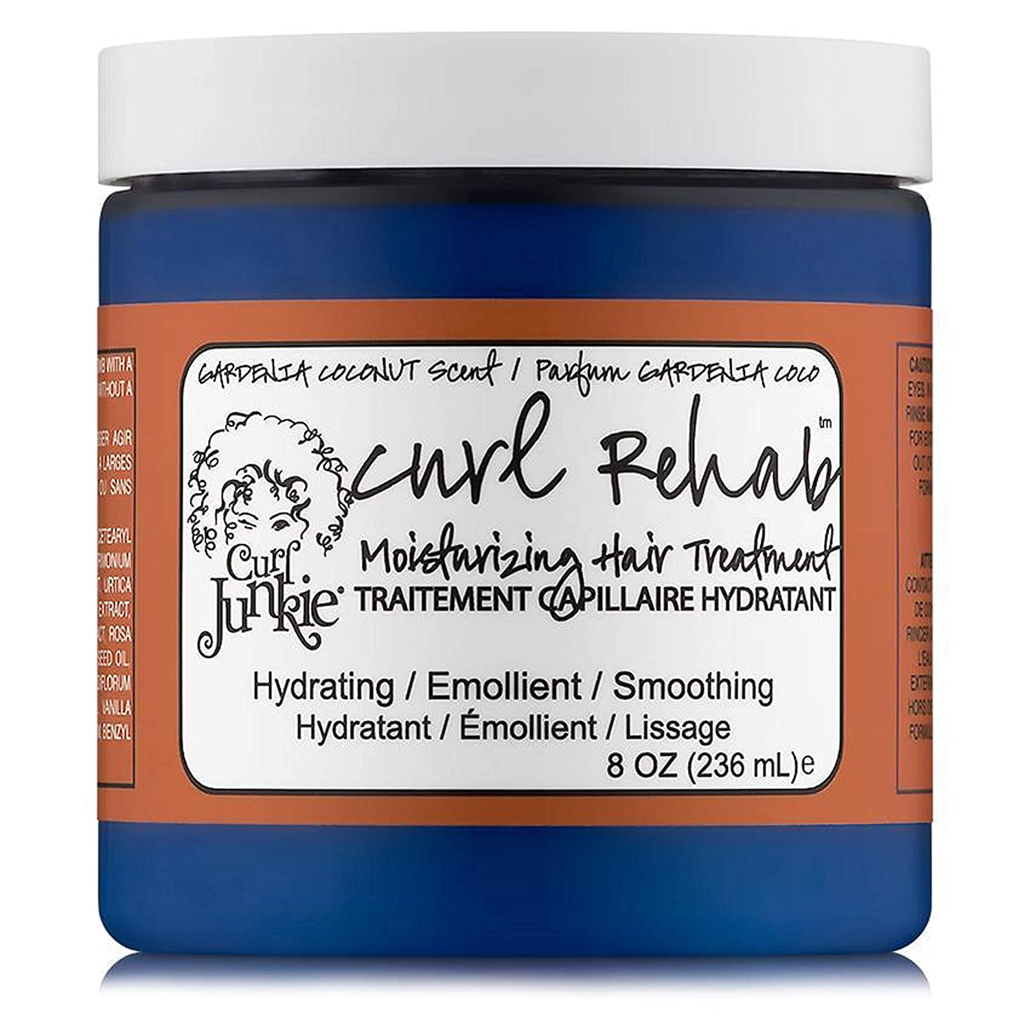 Curl Junkie Curl Rehab Moisturizing Hair Treatment, Gardenia-Coconut Scent, 8 oz.
