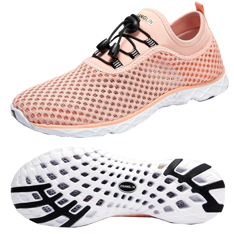 Zhuanglin Womens Lightweight Aqua Water Shoes Beach Sneakers B07CYV8MG5 Parent