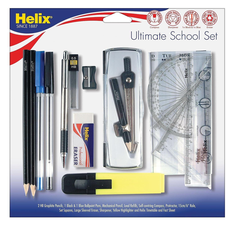 Helix, set completo di accessori di cartoleria per la scuola P50070