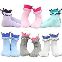 TeeHee (Naartjie) Kids Girls Cotton Crew Basic Roll Top Socks 6 Pair Pack