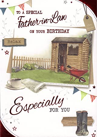 Father In Law Birthday Card To A Special On Your Amazoncouk Garden Outdoors