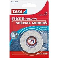 Tesa 55758-00000-00 Fixer Objets Spécial miroirs 1,5 m x 19 mm