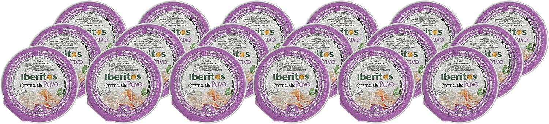 Iberitos - 18 Monodosis de Crema de Pavo - 18 x 23 gr: Amazon.es: Alimentación y bebidas