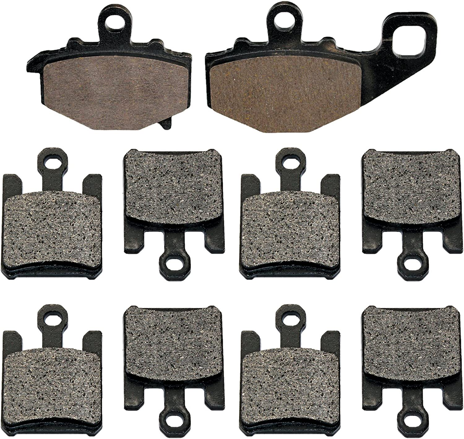 Caltric Front /& Rear Brake Pads Compatible With Kawasaki Zx6R Zx-6R Ninja Zx636 2003-2006