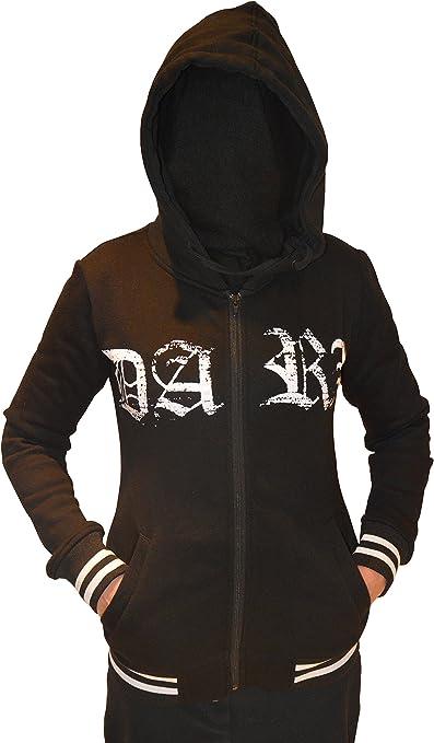 Damen Kapuzenjacke Hoodie PENTAGRAM Gothic Black Metal 666 mit Schriftzug DARK