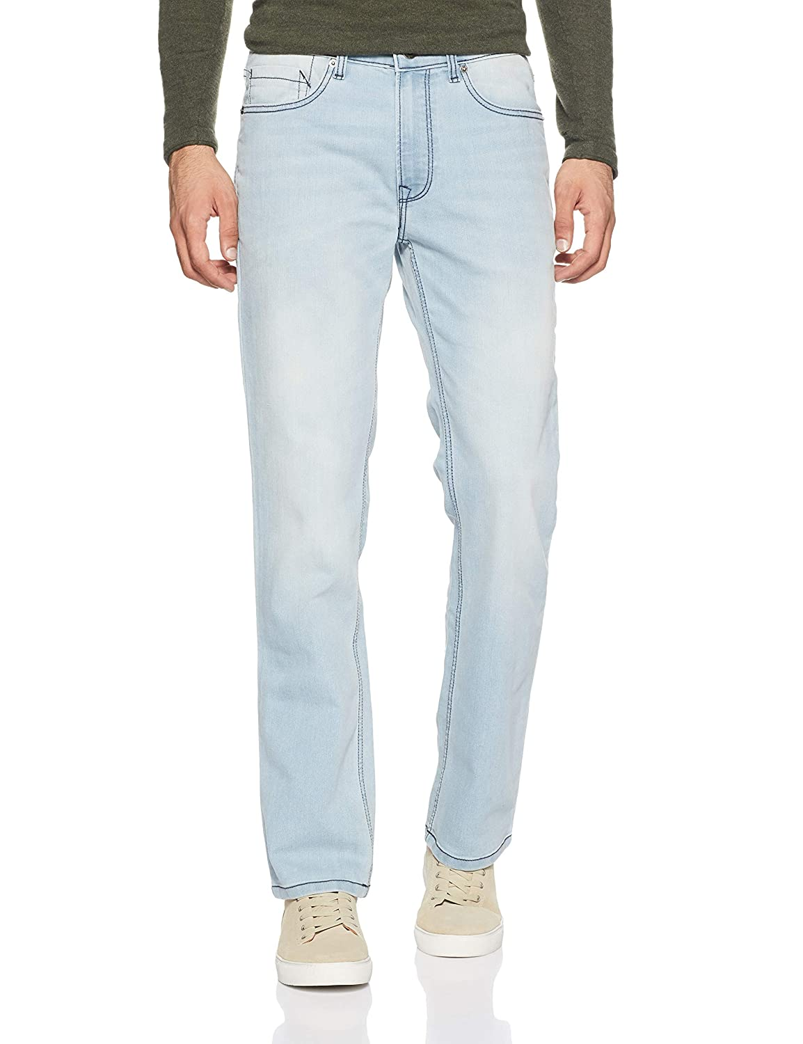 Buy Pepe Jeans Men S Relaxed Fit Jeans Pm204298f56 Blue 34w X 32l At Amazon In