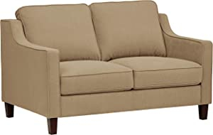 Stone & Beam Blaine Modern Loveseat Sofa - 55.9 Inch, Beige