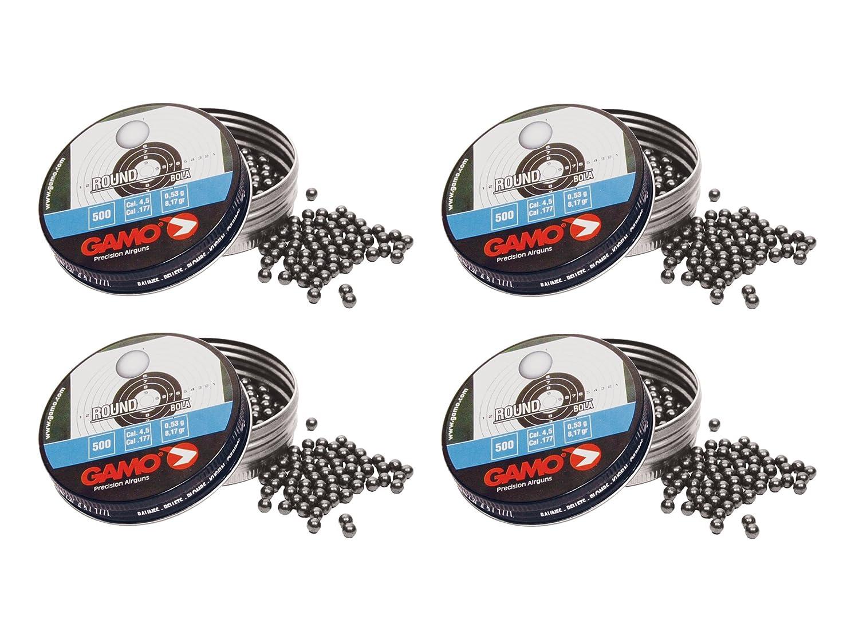 Outletdelocio. 4 latas de 500 perdigones Gamo Round Bola 4, 5mm. Modelo 320334
