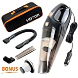 Amazon Price History for:[Upgraded] Car Vacuum Cleaner, HOTOR DC12-Volt 106W Wet&Dry Portable Handheld Auto Vacuum Cleaner for Car,16.4FT(5M)Power Cord with Carry Bag(Black)
