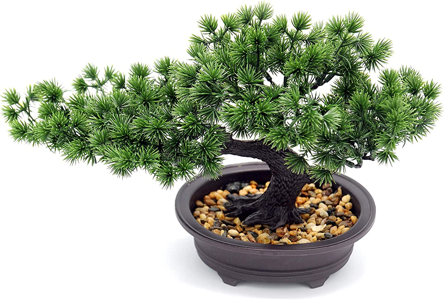 Artificial Plants Bonsai Pine Tree, Artificial House Welcoming Pot Plants, Japanese Pine Desktop Display Simulation, Living Room, Zen Garden Decoration Decor (Zen)
