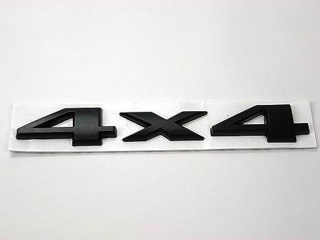 Metall Emblem Aufkleber 4x4 Schwarz Auto