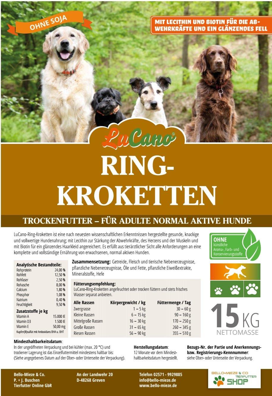 15 kg My Choice Anillo krokette | sin soja y sin Artificial de aroma y colorantes para el Adulto normal activo perro de 1 - 8 años.
