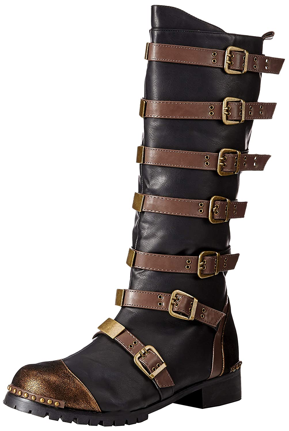 Steampunk Boots & Shoes, Heels & Flats Ellie Shoes Mens 158-punk Combat Boot $130.89 AT vintagedancer.com