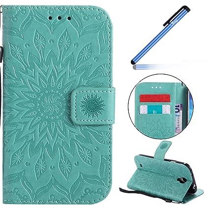 YSIMEE Funda Samsung Galaxy S4,Carcasa Libro de Cuero con ...