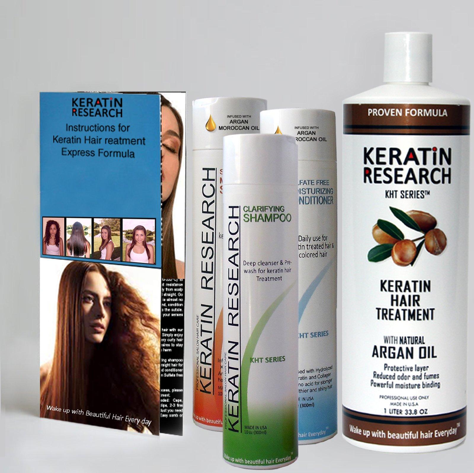 Keratin Research Brazilian Keratin Hair Treatment XL KIT 1000ML Professional Express formula Shipping Available Worldwide