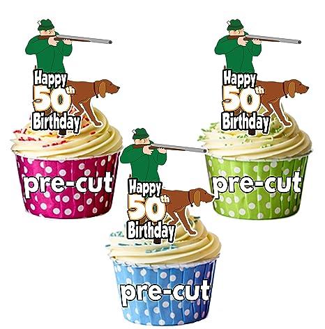 Decoración comestible para cupcakes con temática de caza ...
