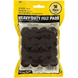 Smart Surface 8825 Heavy Duty Self Adhesive Furniture Felt Pads 1-Inch Round Brown 96-Piece Value Pack in Resealable Bag