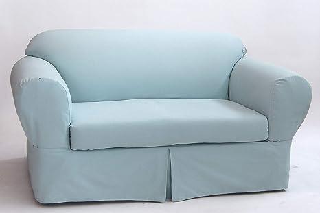 Amazon.com: Classic Slipcovers WDEN2PC10BLU Sofa slipcover, 2 Piece ...