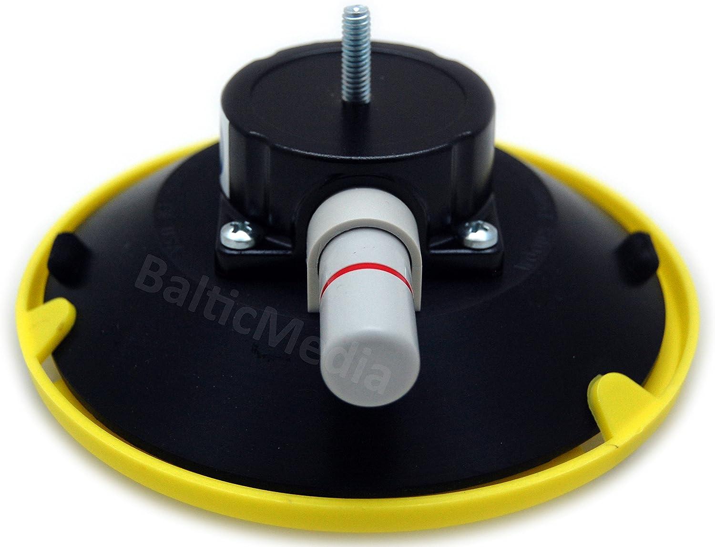 1//4 VAKUUM TL6AMB1420T34L Supporto per aspiratore con vite lunga 6,35 mm ventosa in vetro e tappo in alluminio