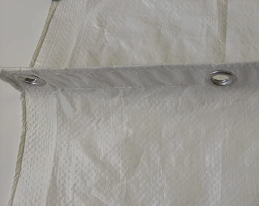 Grip rite 15/' x 20/' flame retardant tarp white 1 box 5 tarps per box