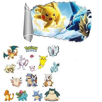 Kibi Pokemon Aufkleber Pikachu Wandtattoo Fur Kinder Wandtattoo Pokemon Pikachu Wandsticker Wandaufkleber Wanddeko Fur Kinderzimmer Babyzimmer Amazon De Baby