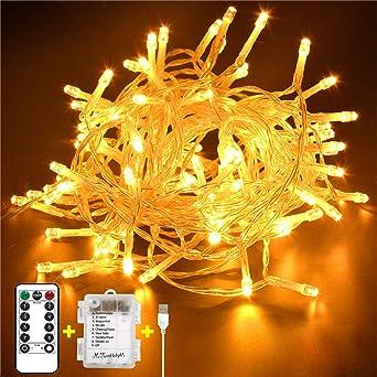 100er LED Lichterkette Weihnachts Beleuchtung Außen Deko Lampen X-MAS Leuchten
