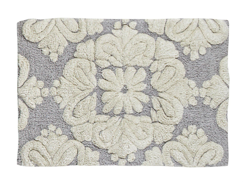 24 x 36 Better Trends// Pan Overseas BAMEDMP2436GR Medallion Bath Mat Grey