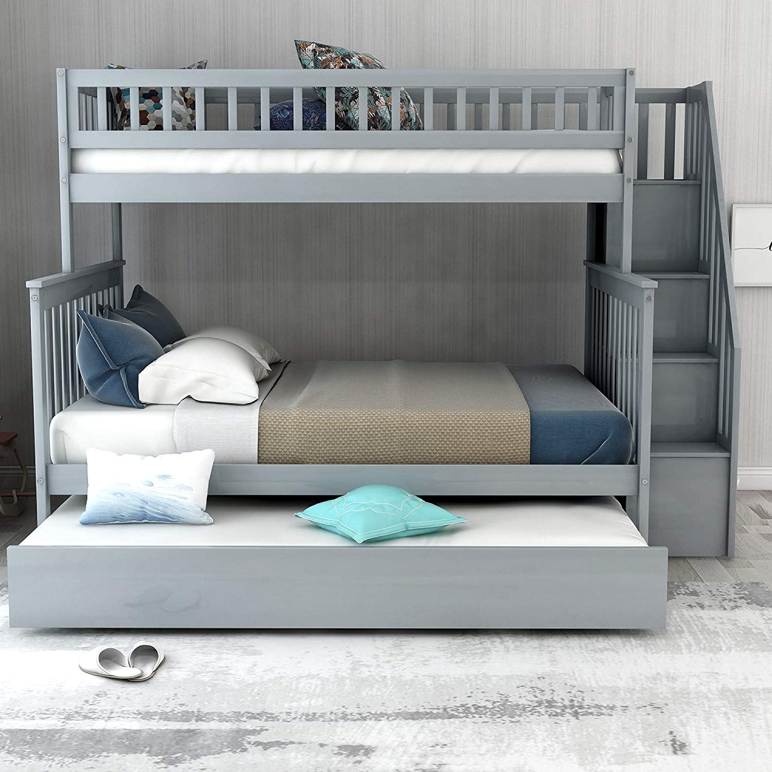 Bunk Bed With Trundle And Stairs Cheaper Than Retail Price Buy Clothing Accessories And Lifestyle Products For Women Men